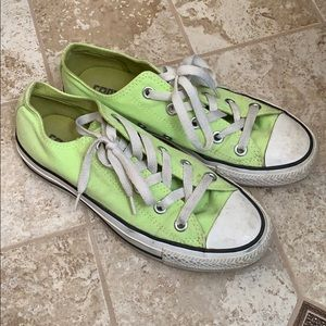 Neon Green Converse Chuck Taylor Low Top Size 6